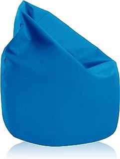 alibey - Pouf géant en forme de poire intérieur/extérieur pour enfants, loisir, école, bleu clair
