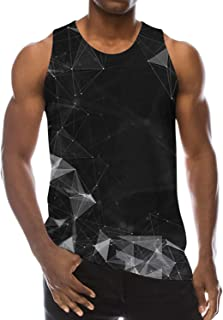 Goodstoworld Mens 3D Printed Breathable Tank Top Funny All-Over Graphic Soft Lightweight Tees S-XXL