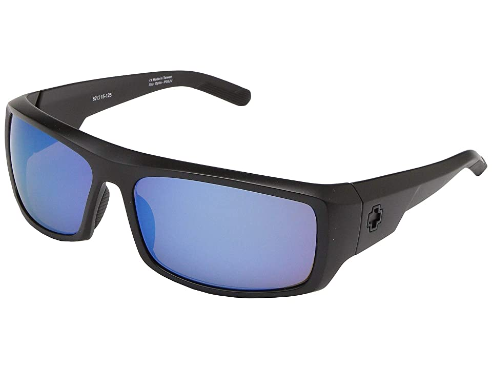 Spy Optic Admiral Polarized (Matte Black/Bronze Polar with Blue Spectra) Fashion Sunglasses