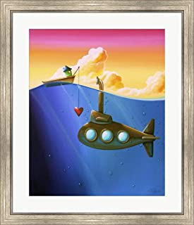 Finding Nemo by Cindy Thornton Framed Art Print Wall Picture, Silver Scoop Frame, 27 x 32 inches