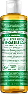 Dr. Bronner's - Pure-Castile Liquid Soap (Almond, 8 ounce) - Made with Organic Oils, 18-in-1 Uses: Face, Body, Hair, Laund...