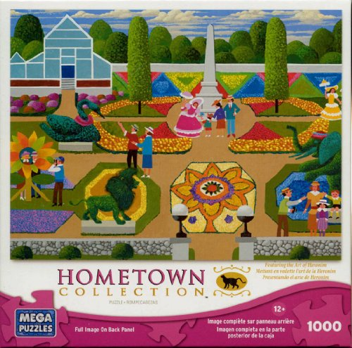 Hometown Collection: Flower Festival - 1000 Piece Jigsaw Puzzle - by Heronim by Mega Puzzles