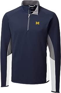 Cutter NCAA Mens Long Sleeve Traverse Colorblock Half Zip