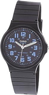 ساعة كاسيو مع مينا اسود وسوار راتنج للرجال، MQ-71-2BDF