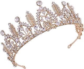 LUCKYYY Corona da Sposa Corona di Cristallo Copricapo Accessori da Sposa Corona