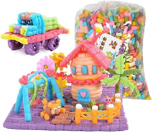 buscando agente de ventas Little Toys Toys Toys Juguetes para Niños Manual de Desarrollo Intelectual Paquete de Materiales DIY Grano de maíz Creativo Kindergarten Puzzle Creativo Bloques de construcción Juguetes (Tamaño   E)  diseños exclusivos