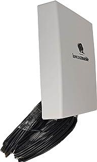 LowcostMobile PAN5G-MIMO-2021 700/800/900/1800/2100/2600/3500 Mhz 2x10m noir Antenne 4G 5G Connectique SMA Câble ALSR200 p...