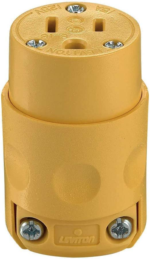 Pack of 1 Commercial Grade Straight Blade Connectors Yellow