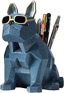 Pen Holder - Creative Cute Puppy Styling Pen Holder, Environmentally Friendly Resin Pen Holder, Desktop Management File Tube (Color : B)