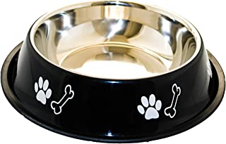 Sage Square Dog Stainless Steel Bowl with Anti Skid/Slip Rubber Base for Food and Water with Squeaky Pet Toy for Pets, Dog...