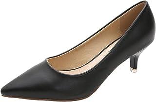 WUIWUIYU Femme Bout Pointu Escarpins Classique/Bureau/Soiree/Travail de Chaussures