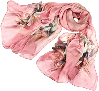 Xxadliy Silkworm Silk High-Grade Silk Scarf Female Sunscreen Scarf (Color : Pink)