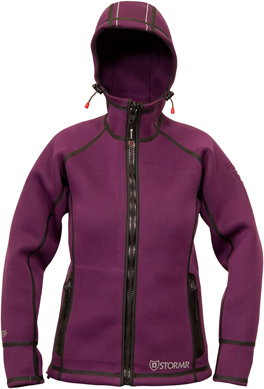 STORMR Women's Typhoon Neoprene Waterproof, Windproof, Warm, Perfect Jacket for Sailing, Cycling, Running, Rock Climbing, Hiking, Camping