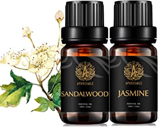 Jasmine Essential Oils Set for Diffuser, Aromatherapy Sandalwood Essential Oil Kit for Humidifier,Therapeutic Grade Jasmin...