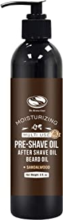 8 fl. Oz, Sandalwood Pre Shave Oil for Men, Premium Pre Shave Oil, Excellent Shaving oil for Men with Sensitive Skin, Works with Straight or Safety Razor - Also works as Beard Conditioning Oil
