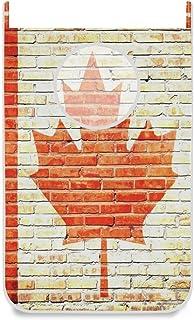 Panier à linge suspendu Porte / Mur / Placard Drapeau canadien Grand panier à linge suspendu pour organisateur de rangemen...