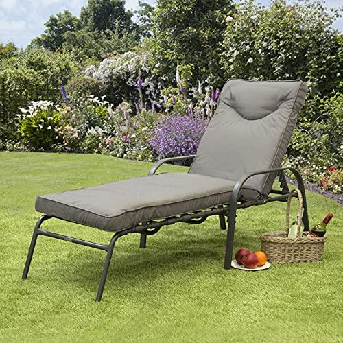 Candosa Padded Six Position Sun Lounger With High Qaulity Cushion (1)