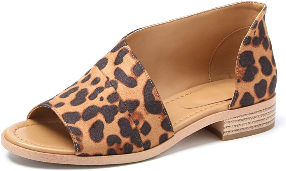 Susanny Womens Flat Sandals Open Toe Slip on Fashion Summer Casu