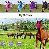 Fliegenmaske für Pferde mit Ohren, glatte und elastische Lycra-Fliegenmaske, Reitsport und...