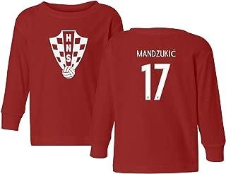 Croatia 2018 National Soccer #17 Mario MANDZUKIC World Championship Little Kids Girls Boys Toddler Long Sleeve T-Shirt