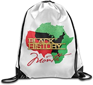 Black History Month Empowerment Print Drawstring Backpack Rucksack Shoulder Bags Gym Bag Sport Bag