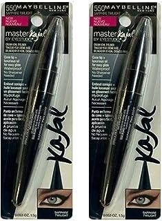 Pack of 2 Maybelline Master Kajal Cream Kohl Eyeliner by Eyestudio, 550 - Sapphire Twilight