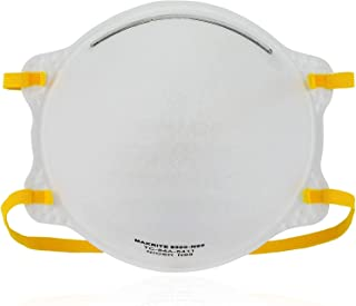 NIOSH Certified Makrite 9500-N95 Pre-Formed Cone Particulate Respirator Mask, M/L Size (Pack of 20 Masks)