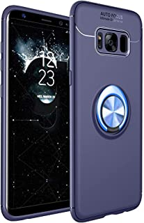 Galaxy S8 Plus Case, Ikwcase 360 Degree Rotating Ring Holder Case (Compatible with Magnetic Car Mount) Resilient TPU Drop ...