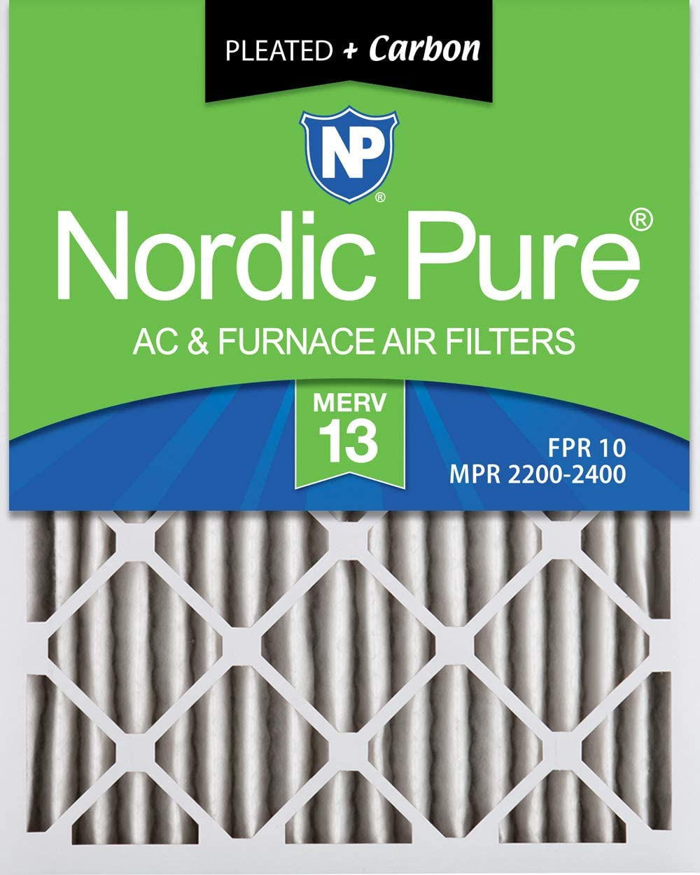 Nordic Pure 18x20x2 MERV OFFicial site 13 Pleated Furnace Plus Air Carbon AC F Raleigh Mall