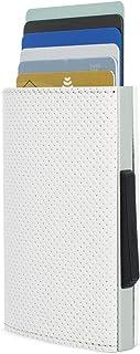 Ögon Design - Portefeuille Cascade Slim - Protection RFID - Aluminium et Cuir Vegan - Traforato Blanc