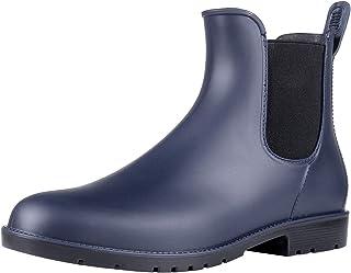 Asgard Women's Short Rain Boots Waterproof Slip On Ankle Chelsea Booties