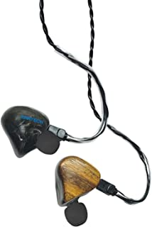 $399 » EarTech Music Bass-Strong High Definition Triple Driver, Universal Fit Noise-Isolating in-Ear Monitors with Natural Bocote Wood Faceplate