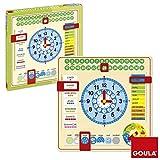 Unbekannt Goula - 51308 - Jouet en Bois - Eveil - Horloge Calendrier - Français [Französische...