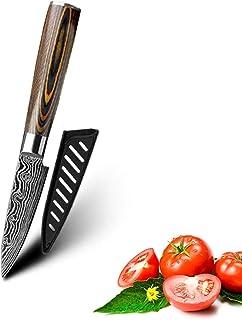 Couteaux de cuisine Ensemble en acier inoxydable 7Cr17 Couteau de style japonais Couteau à pain à charcuterie PARING COUTE...