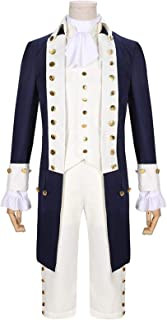 Alexander Hamilton Musical Rock Opera Concert Cosplay Costume Man Stage Outfit Halloween Carnival Shows Cloth (Color : Nav...