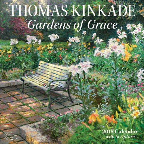 Thomas Kinkade Gardens of Grace with Scripture 2015 Wall Calendar