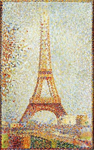 Póster de París La Torre Eiffel Pintura por George Saurat 1889 Paris Painting París París París París Parisian Art Decor Paris Art (16 x 20)
