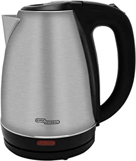 Super General 1600 Watts Electric Water Kettle, 1.7 Liter, Stainless Steel, SGK-117-SS, Silver, 21.2 x 17.2 x 22 cm, One Y...
