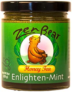 Enlighten-Mint | Herb Infused Honey Tea made with Organic Wildflower Honey, Green Tea, Spearmint Leaves, and Peppermint | ...