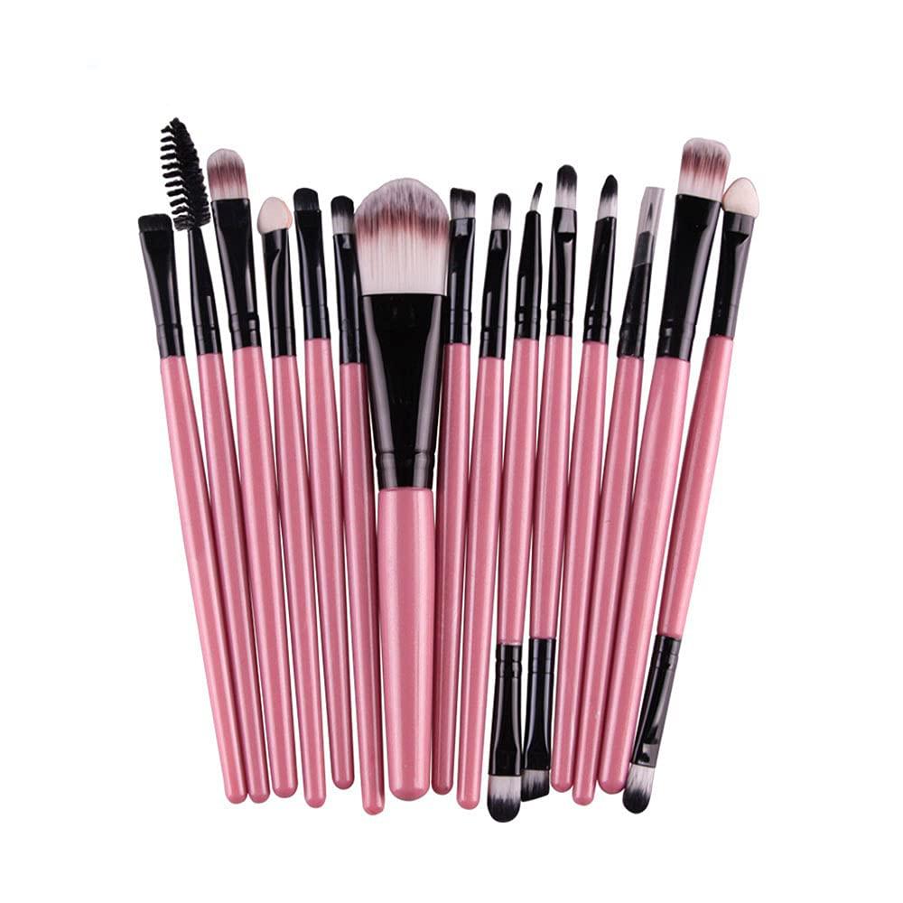 New Free Shipping Set of 15 pcs Max 54% OFF tools Powder Brush Eyeliner Foundation Makeup