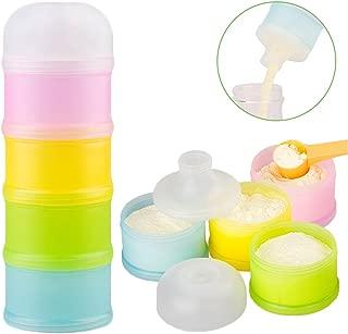 Formula Dispenser, Kidsmile Twist-Lock Stackable On-The-Go BPA Free Milk Powder Box Baby..