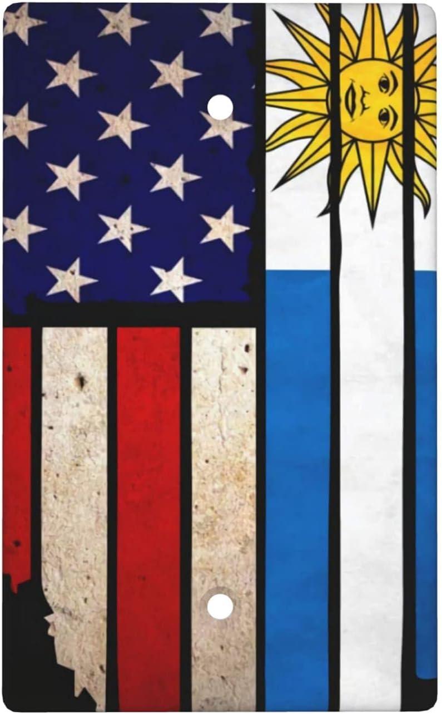 Vintage Usa Uruguay Flag Blank Cover Standard 4. Plate Wall Genuine Las Vegas Mall Size
