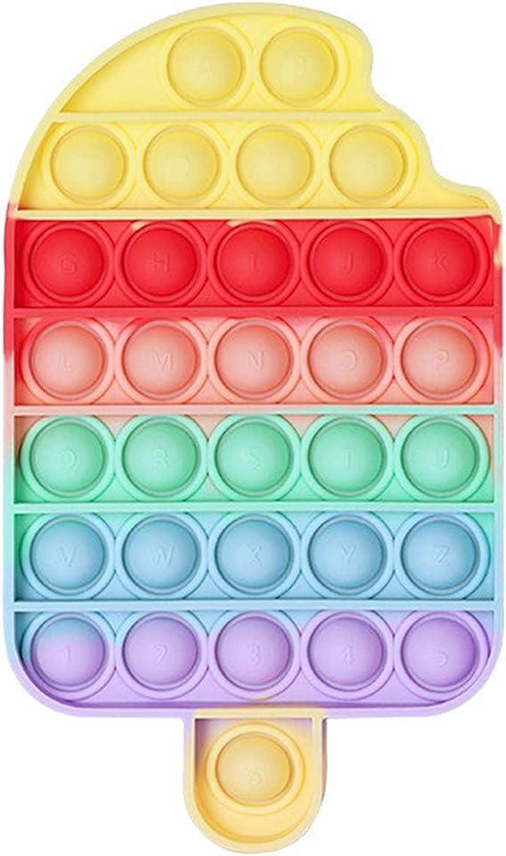 Fidget Toy Antistress Spielzeug Anti Stress Sensorik Popit Figetttoys, Simple Dimple Fidget Toy Figuren Ball Figet Squishy Bubble Push Pop für Erwachsene und Kinder
