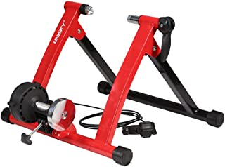 unisky Indoor Exercise Cycling Fitness Magnetic Bicycle Trainer Stand- Variable 6 Levels Resistance Bike Trainer 26-28 Wheels