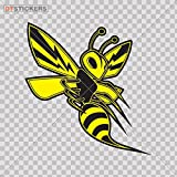 DT-stickers Bees & Hornets Decal Yallow Angry Wasp Car Window Jet ski (4 X 3,82 in.) Fully Waterproof Printed Vinyl Sticker