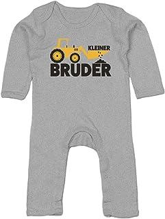 Shirtgeil Kleiner Bruder Bagger Traktor Baby Strampler Strampelanzug