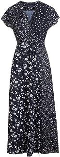 French Connection womens Francis Drape Maxi Wrap Dress Dress