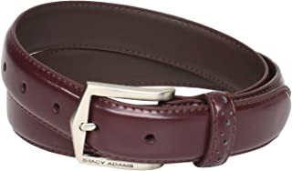 Men's 30 MM Pinseal Leather Belt with Brushed Nickel Buckle