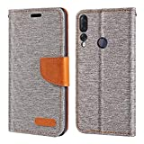 Lenovo Z5S Case, Oxford Leather Wallet Case with Soft TPU