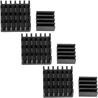 AZDelivery 3 x Juego de 2 Disipadores de calor de aluminio negro pasivo para Raspberry Pi 3 con lámina adhesiva especial conductora de calor